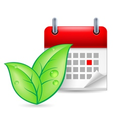Eco event icon vector image vector image