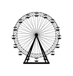 Ferris wheel silhouette circle Carnival Funfair vector image