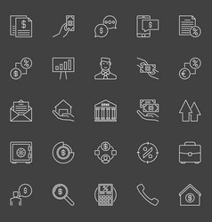 Financial and loan icons vector