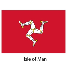 Flag the country isle of man vector image