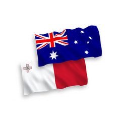 Flags australia and malta on a white background vector
