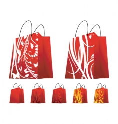 floral shopping bags vector image
