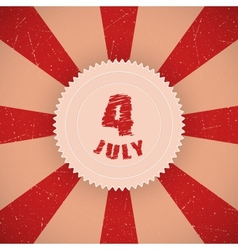 Fourth july badge vector