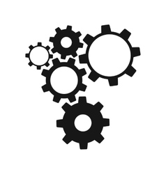 Gears isolated on white background vector image