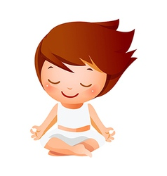 Girl meditating vector