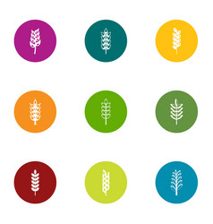 gluten content icons set flat style vector image