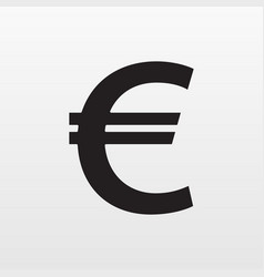 gray euro money icon isolated on background moder vector image