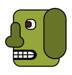 head robot isolated icon vector image