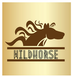 horse animal natural logo vector image