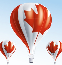 Hot balloons painted as Canada flag vector