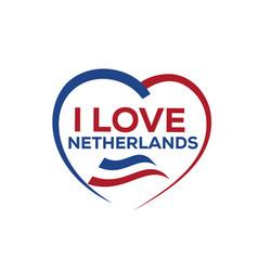 i love netherlands vector image