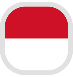 Icon square shape with flag on white background vector