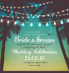 inspiration card for wedding date birthday vector image