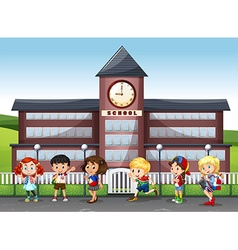 International children at school vector