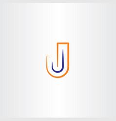 j logotype symbol vector image