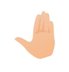 left palm hand cartoon vector image