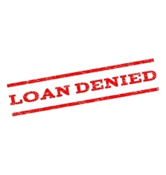 Loan Denied Watermark Stamp vector