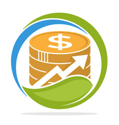 Logo icon for financial investment business vector