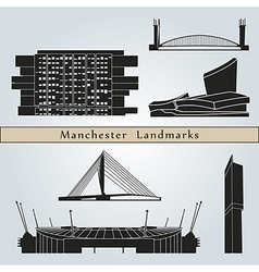 Manchester landmarks and monuments vector image
