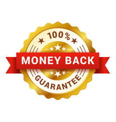 Money back badge customer satisfaction guarantee vector