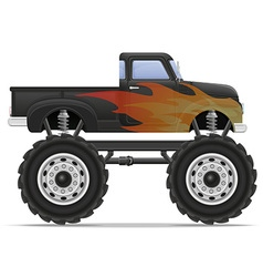 monster truck 02 vector image