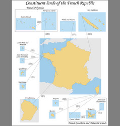 overseas france consists french vector image
