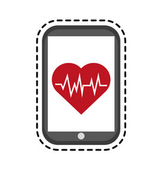 Portable heart rate monitor icon image vector