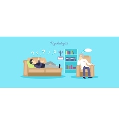 Psychologist Concept Icon Flat Isolated vector
