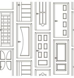 realistic room doors pattern vector image