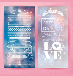 save the date marriage text image vector image