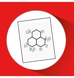 Science laboratory molecule drawing graphic vector