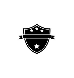 shield protection icon black vector image