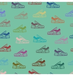 shoes seamless pattern background vector image