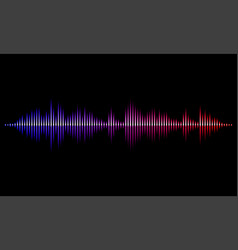 sound radio wave light background vector image