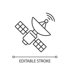 space satellite pixel perfect linear icon vector image