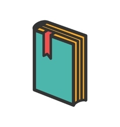 Standing book with bookmark icon vector image
