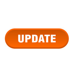 Update button update rounded orange sign update vector