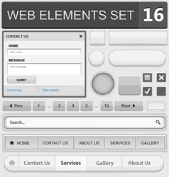 Web elements set 16 vector
