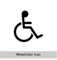 Wheelchair flat icon wheelchair icon on white vector