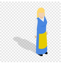 woman wearing in traditional swedish costume icon vector image