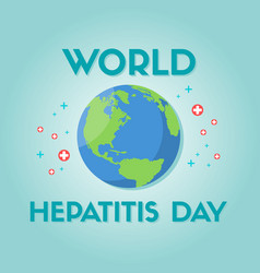 World hepatitis day design background vector