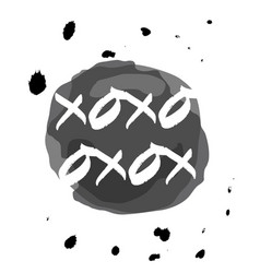 xoxo drops vector image