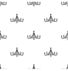 chandelier icon in black style isolated on white vector image