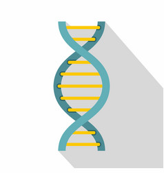 dna symbol icon flat style vector image