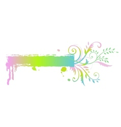 Floral rainbow banner vector image vector image