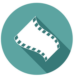 icon film with a long shadow vector image vector image