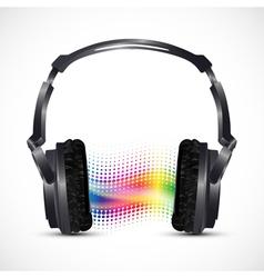 musical headphones vector image