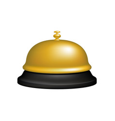 service bell in black and golden design vector image