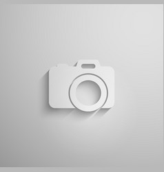 a paper 3d camera with long shadow vector image
