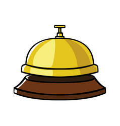 concierge bell vector image